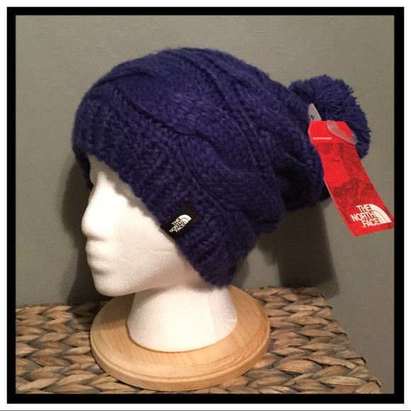 d4c5bd26373eb NWT The North Face Triple Cable Pom Beanie